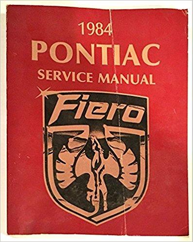Pontiac Fiero Service Manual 1984