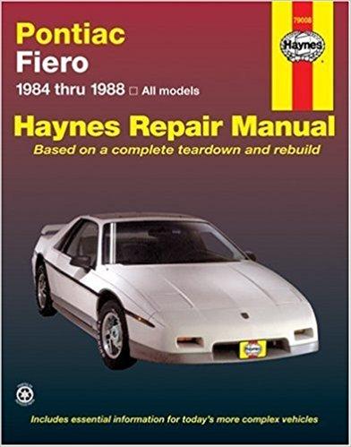 By John Haynes Pontiac Fiero, 1984-1988 (Haynes Repair Manual) (1st Edition)