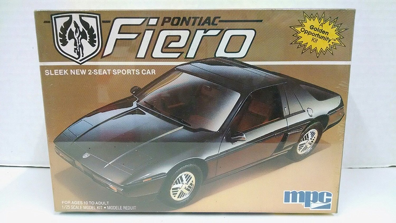 MPC 1-0715 1985 Pontiac Fiero 1:25 Scale Plastic Model Kit – Requires Assembly