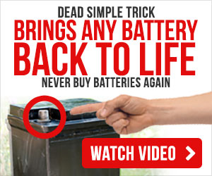 Dead Simple Trick: Brings Any Dead Car Battery Back To Life. Never Buy Car Batteries Again!