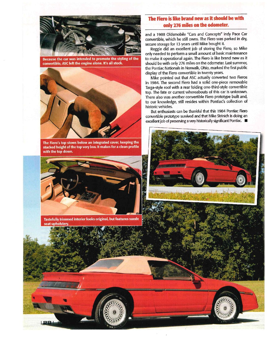 Amazing Convertible Fiero story continued …