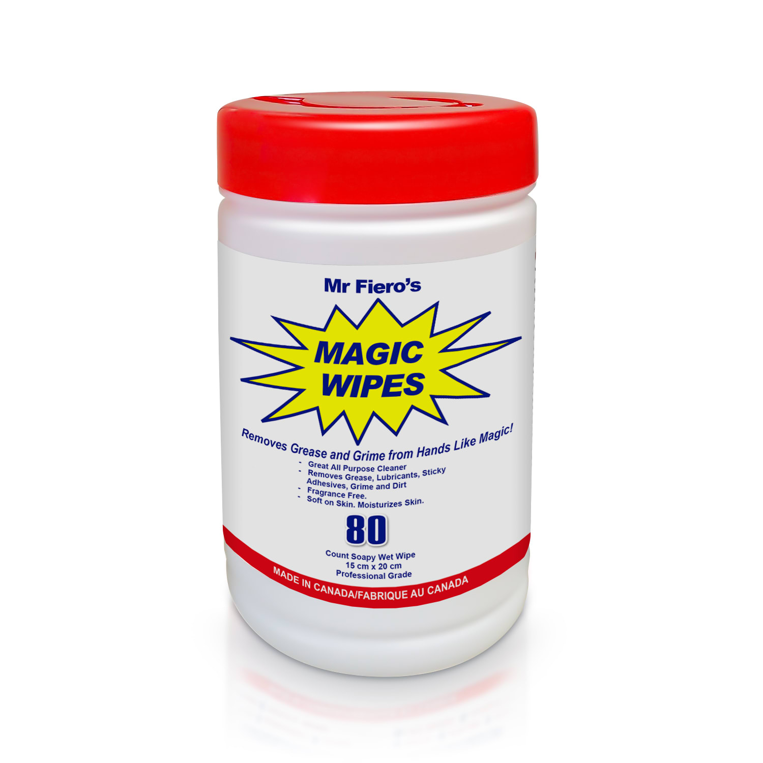 Mr. Fiero's Magic Hand Cleaning Wipes 80 CT.
